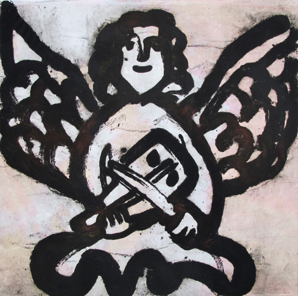 Angel with a violin, 100x100