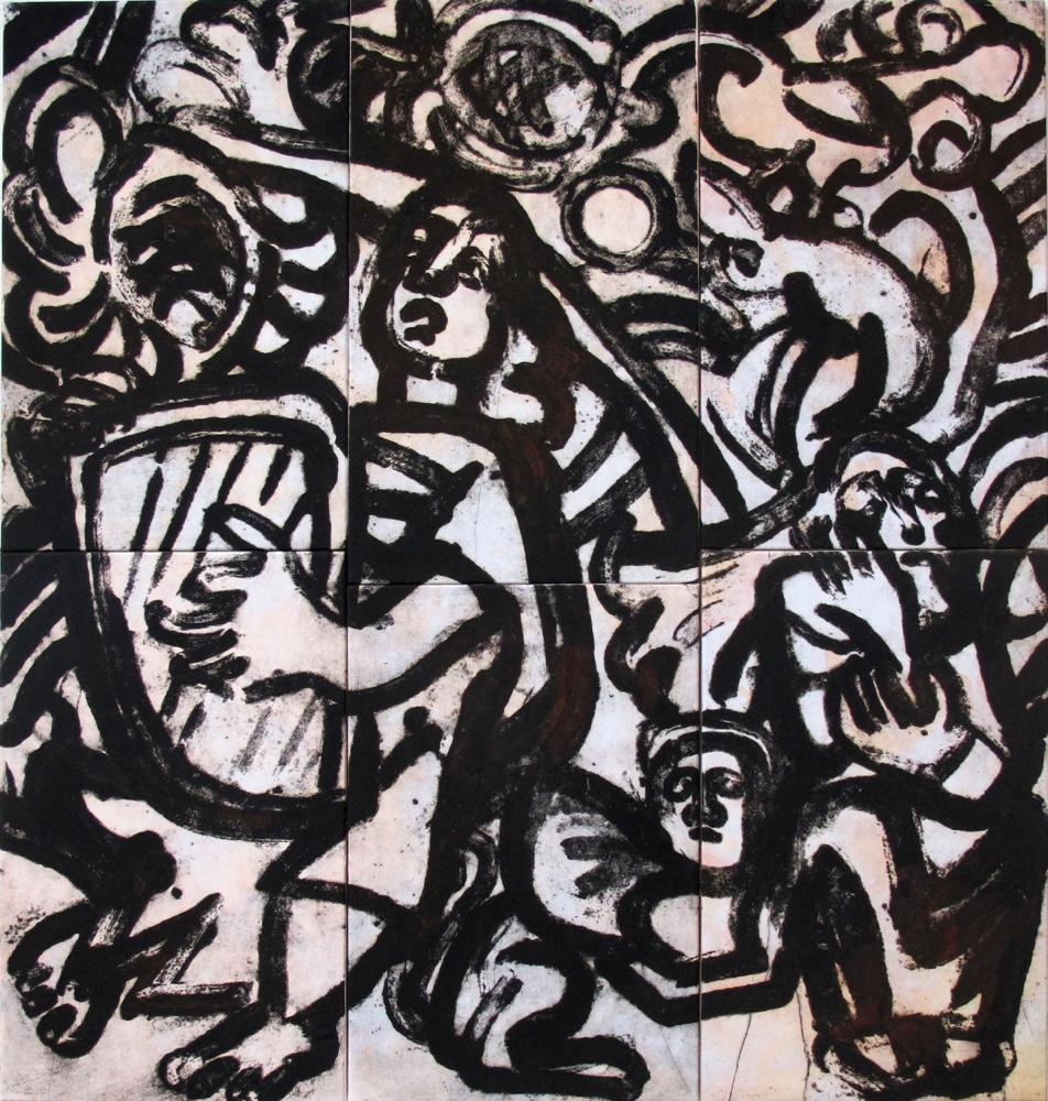 David and Saul, 160 x 150 cm