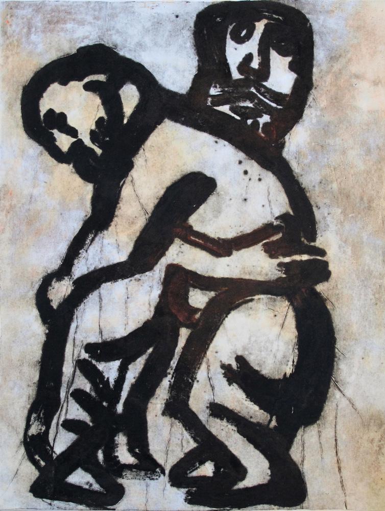 Embrace 1 ( 2 men ),100x75 cm