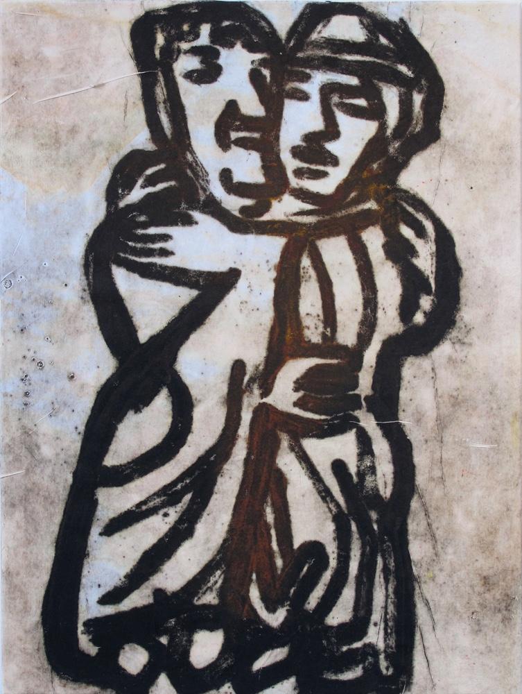 Embrace ( 2 women) , 100x75 cm