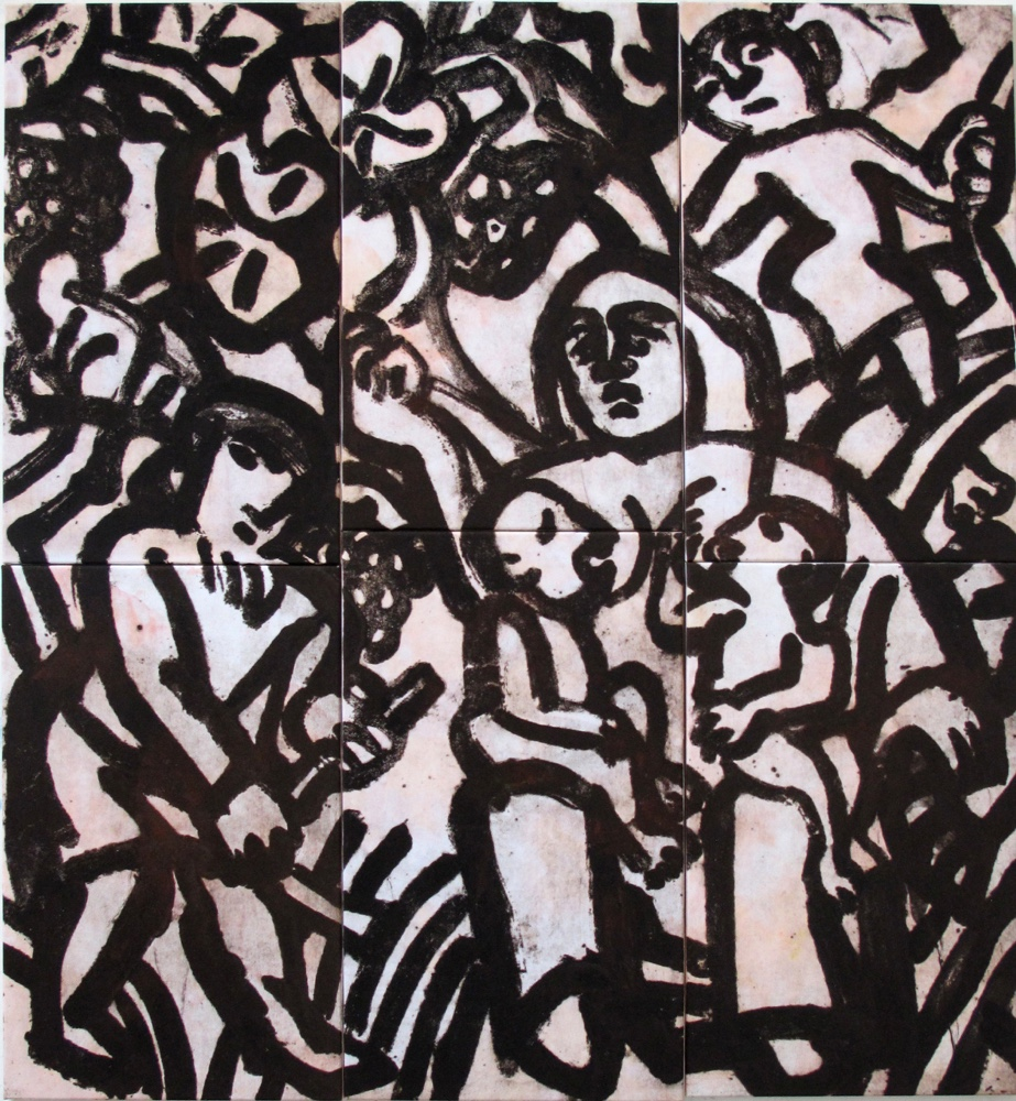 Labors of Adam and Eve, 165x150 cm