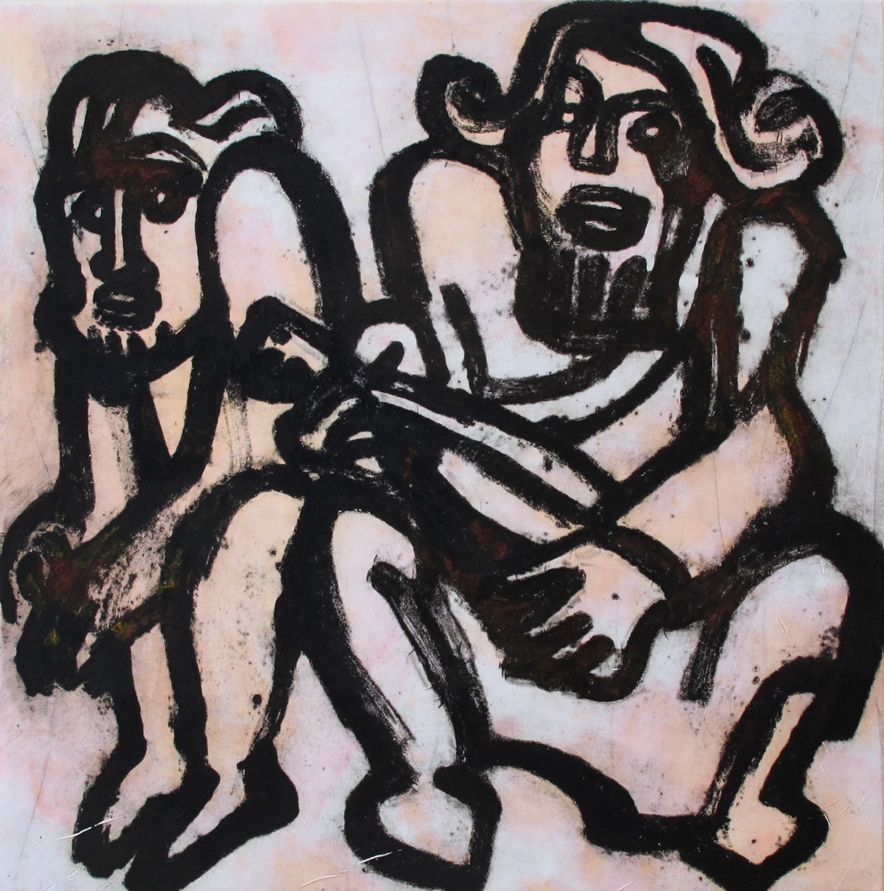 Singing together,100x100cm