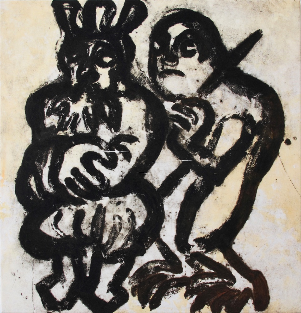 The king and the devil, 100x95 cm