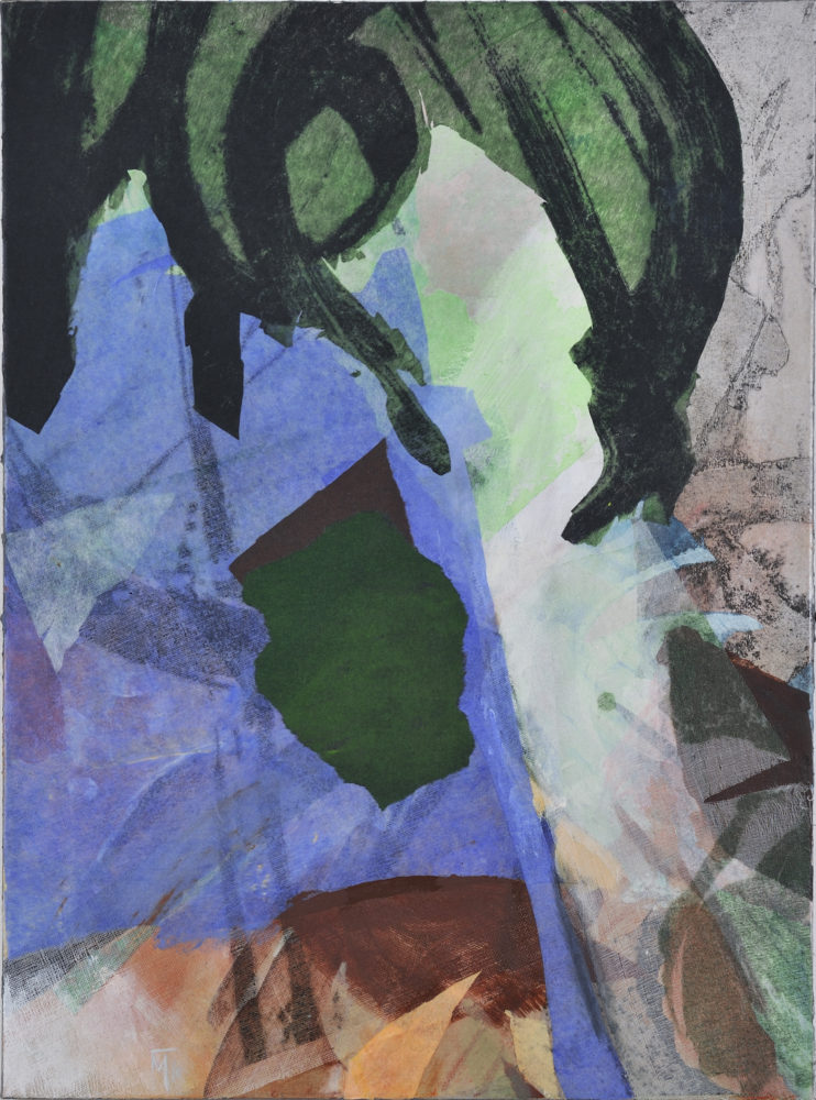 evening mixed medium on canvas 95x70cm
