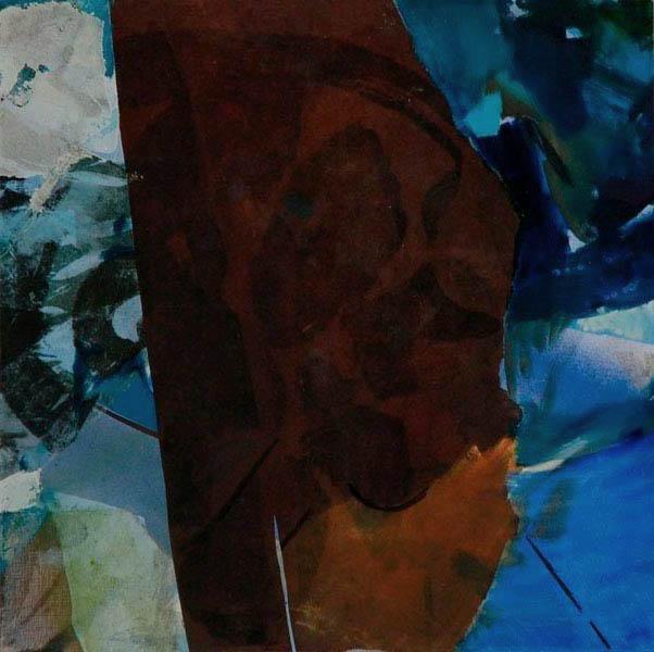 brown rock 60x60cm mixed medium on canvas
