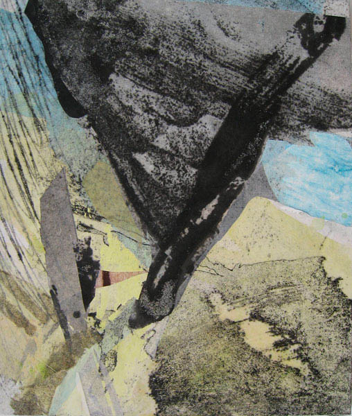 flight 70x60 collage with rice paper