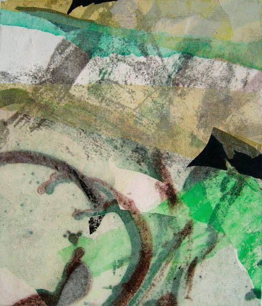 spring 70x60cm mixed medium on canvas