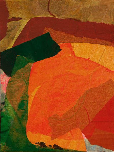 collage with orange 80x60cm mixed medium on canvas