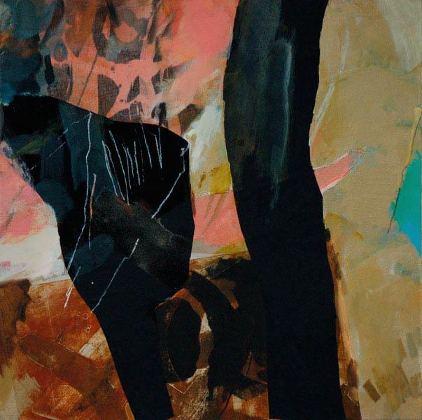 anticipation 100x100cm mixed medium on canvas