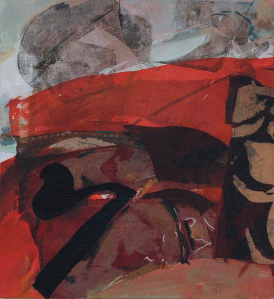 bombay 110x100cm mixed medium on canvas