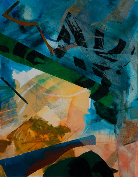 construct green 90x70cm mixed medium on canvas