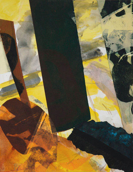 construct yellow 90x70cm mixed medium on canvas