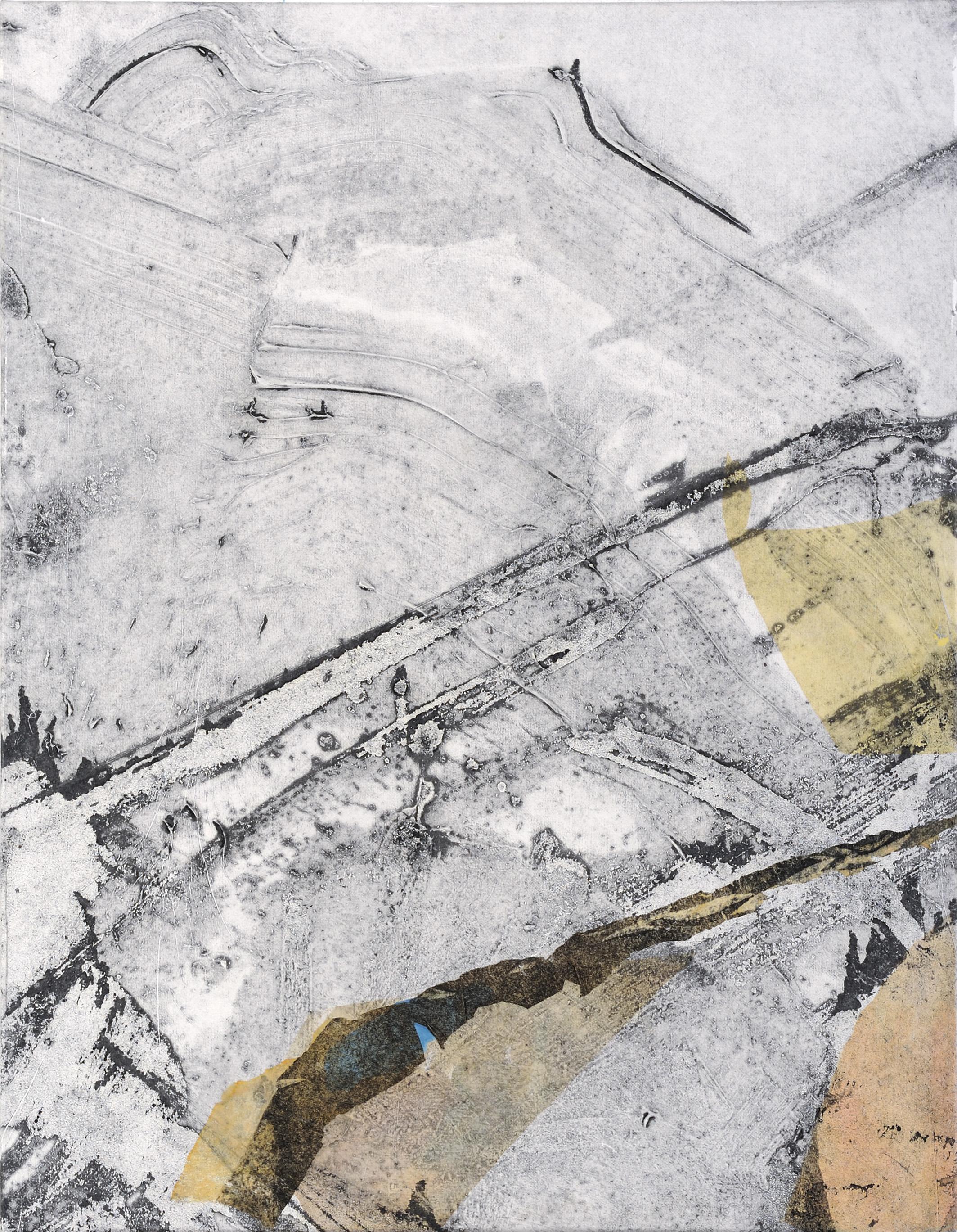 light collage 2 - mixed medium on canvas 90x70cm