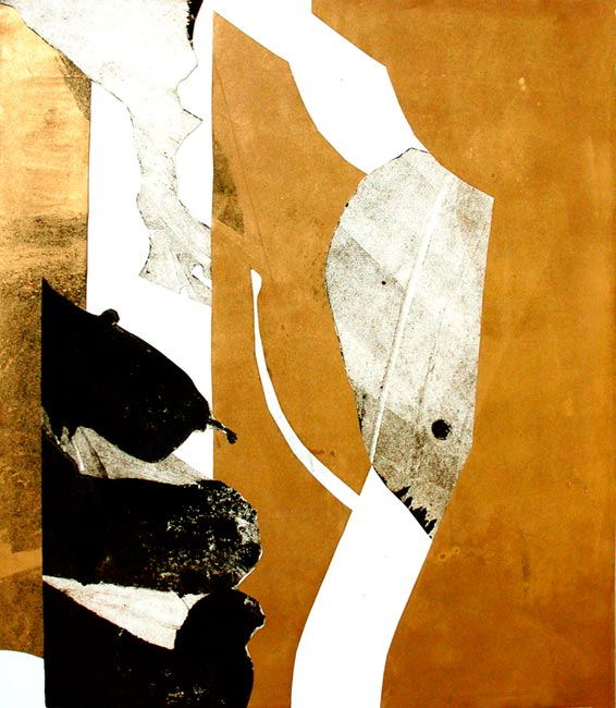 Gold and Black 4, 70x60cm, 2007