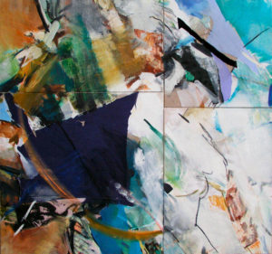 noah 4 parts total size 165x175cm mixed medium on canvas