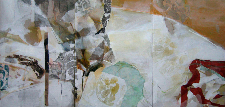 wind and shadows 3 parts total size 200x425 cm mixed medium on canvas