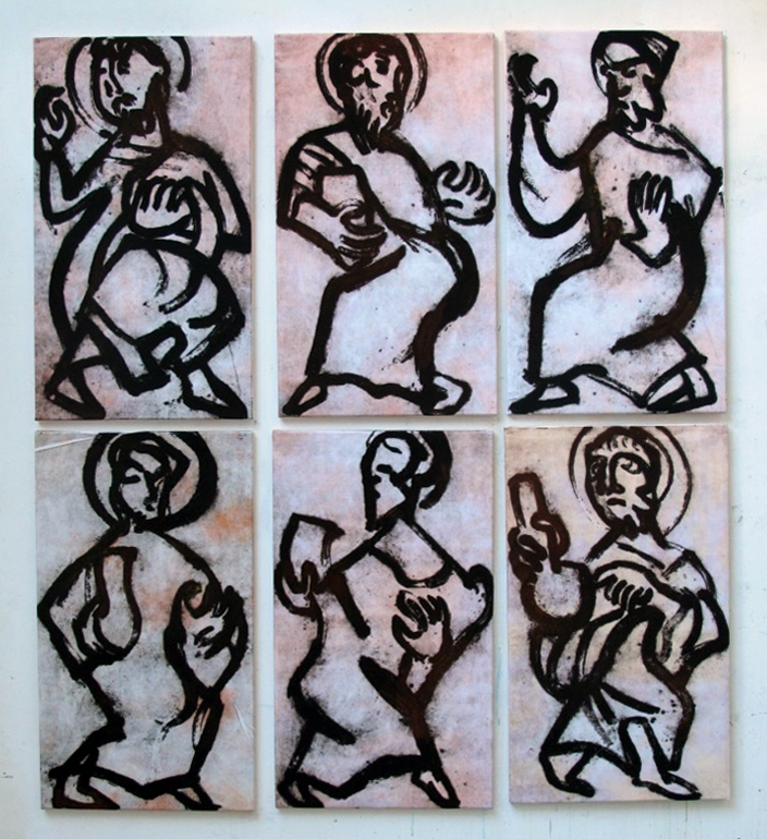 dancing-saints-x-6-85x50-cm