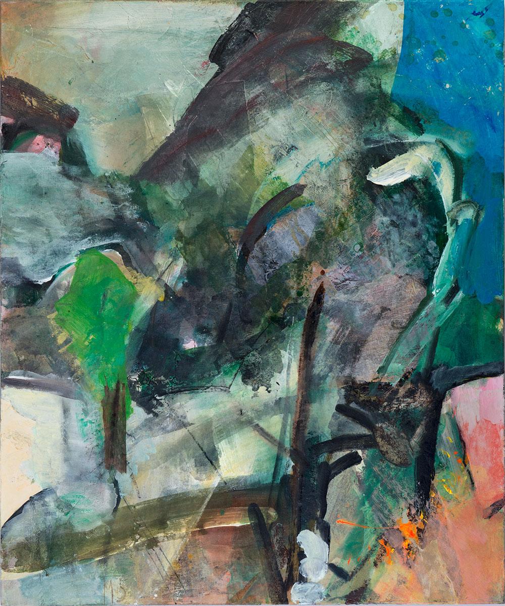 Evening,120x100, mixed media on canvas, 2015