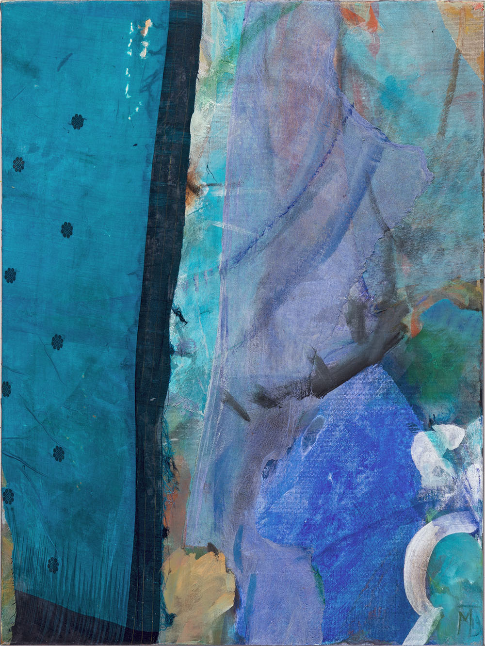 Indian blue, 80x60cm, mixed medium on canvas, 2019