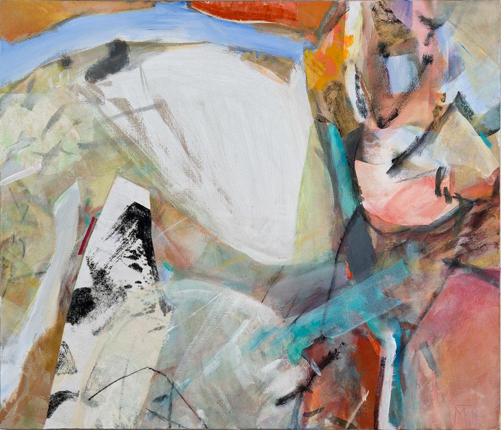 Morning, 120x140cm, mixed media om canvas, 2019