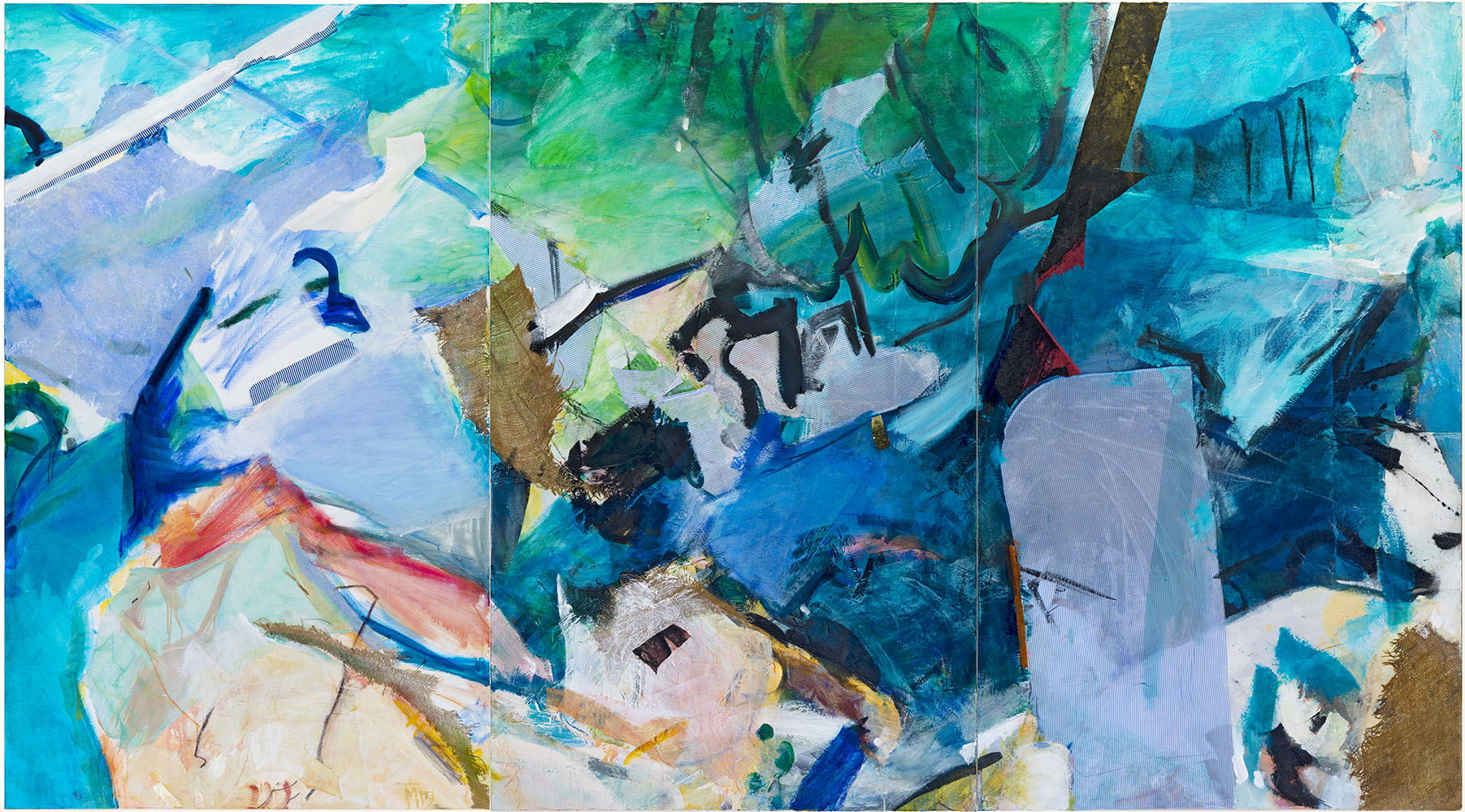 Naxos , 200x390cm, mixed media on canvas , 2010-2019